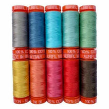 Load image into Gallery viewer, Prim Thread Box Collection From Aurifil 50wt 10 small spools by Lori Holt