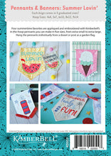 Load image into Gallery viewer, KIMBERBELL PENNANTS & BANNERS: SUMMER LOVIN' MACHINE EMBROIDERY CD