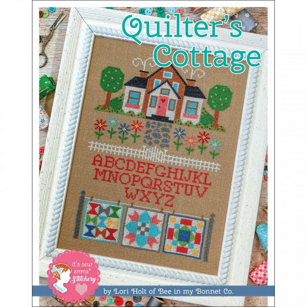 Quilter's Cottage Cross Stitch Pattern by Lori Holt