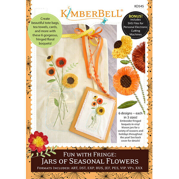 KIMBERBELL FUN WITH FRINGE: JARS OF SEASONAL FLOWERS ME CD