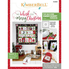 Load image into Gallery viewer, WE WHISK YOU A MERRY CHRISTMAS QUILT KIT (WHITE BORDER) EMBROIDERY