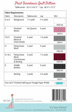 Load image into Gallery viewer, Plaid Farmhouse Quilt Pattern It's Sew Emma