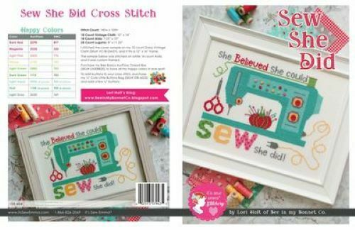 CROSS STITCH PATTERN -SEW SHE DID