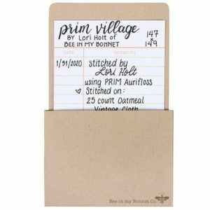 Cross Stitch Label Pack(Library Card) by Lori Holt