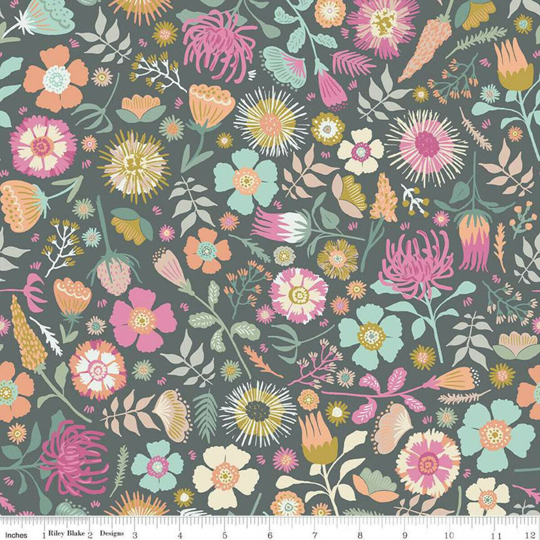 Meadow Lane Main Gray Fabric by Riley Blake SBY
