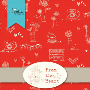 "From the Heart 10"" Stacker Fabric by Riley Blake"