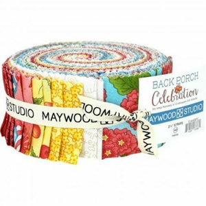 "MAYWOOD STUDIO BACK PORCH CELEBRATION 2.5"" STRIPS FABRIC-ROLL"