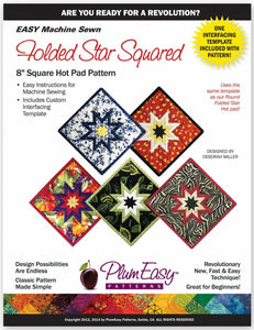 "Folded Star Square Hot Pad 8"" Pattern by Plum Easy"