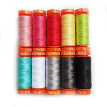 Load image into Gallery viewer, LOVES NOTES SEWING THREAD COLLECTION by Aurifil 10 small spools