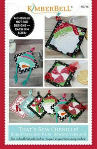THAT'S SEW CHENILLE CHRISTMAS HOT PADS -PATTERN SEWING BOOKLET
