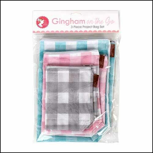 PROJECT BAG GINGHAM MESH SET OF 3