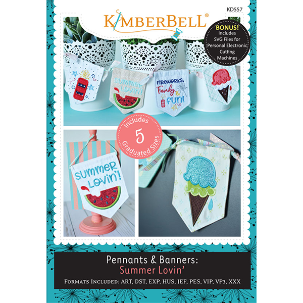 KIMBERBELL PENNANTS & BANNERS: SUMMER LOVIN' MACHINE EMBROIDERY CD