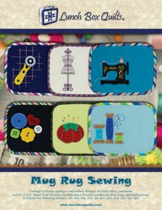 Mug Rug Sewing Designs by Lunch Box Quilts