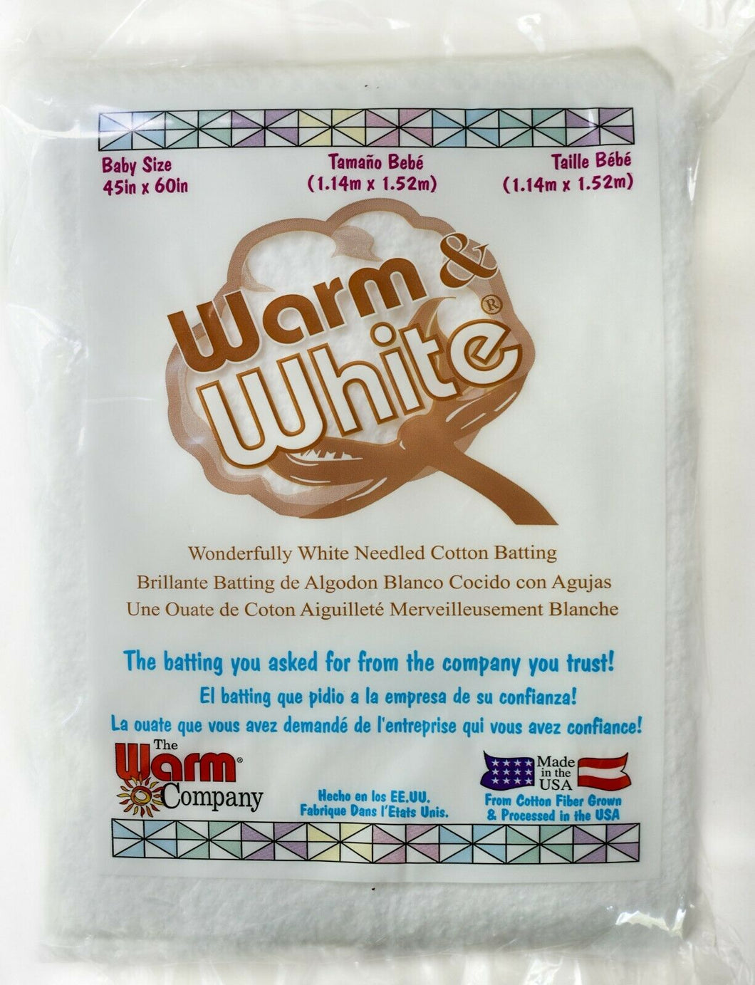 WARM & WHITE BATTING-Baby Size 45