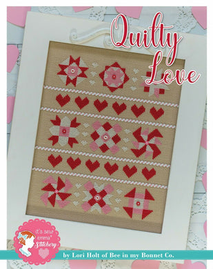 Quilty Love Cross Stitch Pattern w / DMC thread by Lori Holt