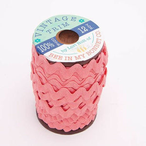 "TRIM VINTAGE CORAL 3/8"" 12 yard wood spool by Lori Holt"