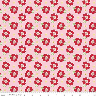 BAKE SALE 2 PINK FLORAL Fabric by  Riley Blake Designs Sold by the Yard