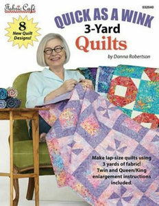 Fabric Cafe Quick As A Wink 3-Yard Quilts Pattern Book