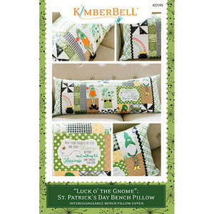 "BENCH PILLOW ST PATRICK'S DAY 'LUCK O' THE GNOME"" BY KIMBERBELL SEWING VERSION"