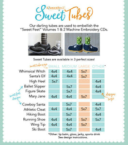 SWEET FEET TUBE(S) - CHOOSE FROM SMALL/MED/LARGE by Kimberbell