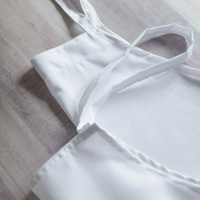 ADULT APRON EMBROIDERY BLANKS WHITE