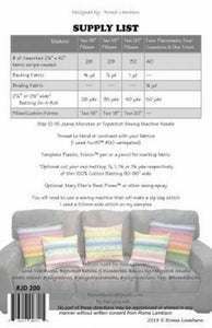 PILLOWS & PLACEMATS PATTERN by RJ Designs
