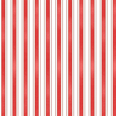 BACK PORCH CELEBRATION RED STRIPES FABRIC by Maywood Studio SOLD BY YARD ONLY