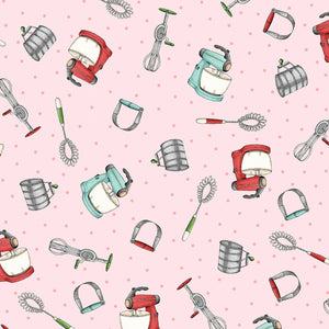 HAPPINESS IS HOMEMADE FABRIC PINK MIXERS BY MAYWOOD STUDIO SBY