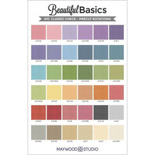 "Load image into Gallery viewer, Beautiful Basics Classic Check Fabric 10"" Squares by Maywood Studio (42 pieces)"