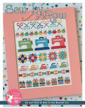 Load image into Gallery viewer, Sew By Row Cross Stitch Pattern with DMC Threads by Lori Holt