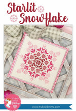 Load image into Gallery viewer, Starlit Snowflake Cross Stitch Pattern by It's Sew Emma