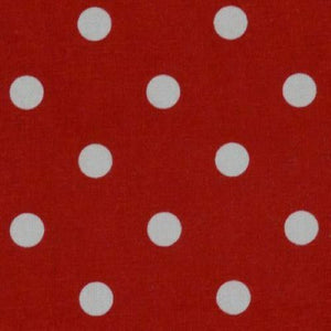 TEA TOWEL POLKA DOT BRIGHT RED (1each)