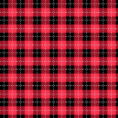 BUFFALO PLAID FABRIC-WE WHISK YOU A MERRY CHRISTMAS COLLECTION RED/BLACK