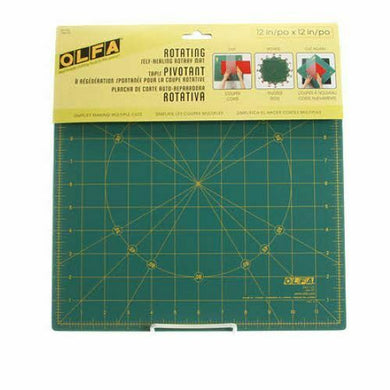 OLFA SPINNING SQUARE CUTTING MAT 12 in x 12 in