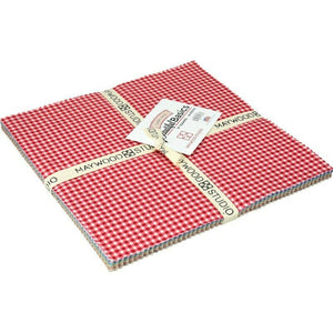 "Beautiful Basics Classic Check Fabric 10"" Squares by Maywood Studio (42 pieces)"