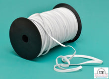 "Load image into Gallery viewer, Braided White Elastic  1/4"" x 220 yards (SOLD BY THE SPOOL)"