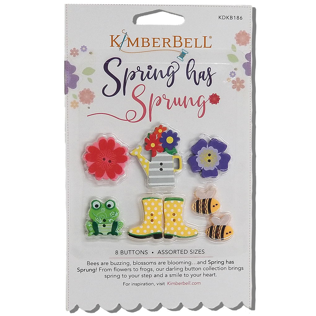 Spring Has Sprung Buttons by Kimberbell 8 count
