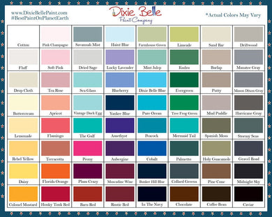 Dixie Belle Mineral Paint 8oz 16oz 32oz  64 Colors SEALED
