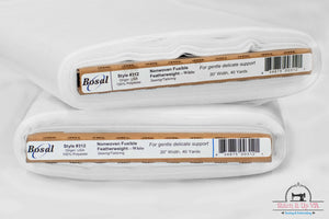 Interfacing Non Woven Fusible Featherweight by Bosal White SOLD BY YARD
