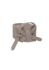 Choco Soft Leather Bracelet (Pre-Order) - Jhoan Sebastian Grey