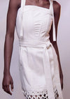 Sabana white dress - Jhoan Sebastian Grey
