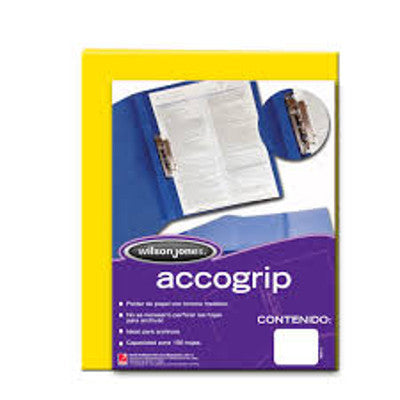 Folder Palanca Accogrip Carta C/4 Amarillo