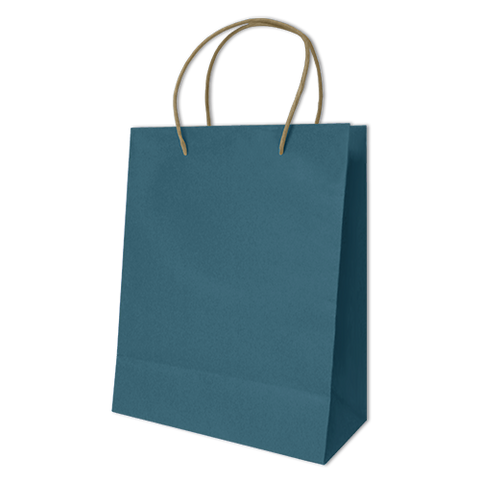 Bolsa Kraft Lisa Grande Color Azul Turqueza