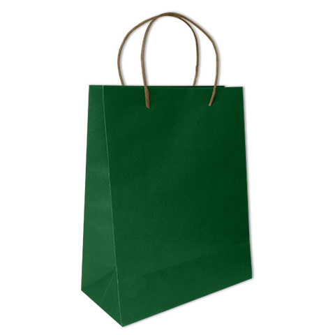 Bolsa Kraft Lisa Mediana Color Verde Bandera