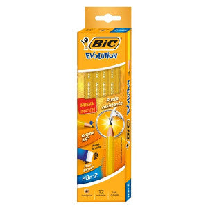 Lápiz Bic Evolution Amarillo #2 C/12