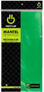 Mantel Party Is On Rectangular 1 Pza Verde Bandera