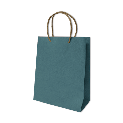 Bolsa Kraft Lisa Mediana Color Azul Turqueza