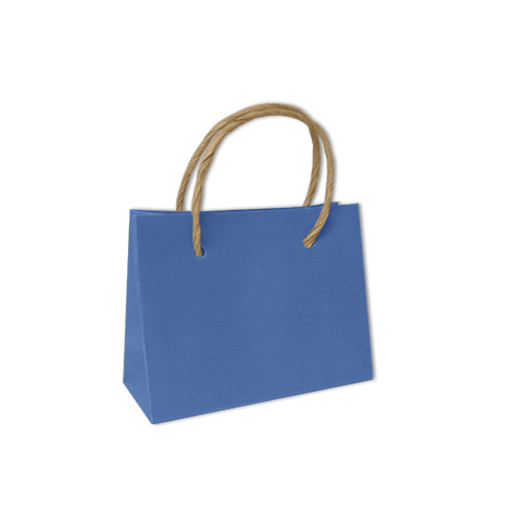 Bolsa Kraft Lisa Mini Color Azul Cielo