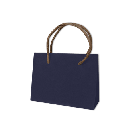 Bolsa Kraft Lisa Mini Color Azul Marino