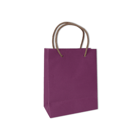 Bolsa Kraft Lisa Chica Color Morada